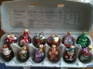 Egg Carton Holding Ornaments