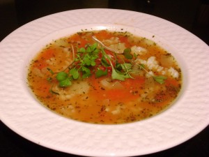 Basil Tomato and Rice Soup