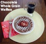 Chocolate Whole Grain Waffles