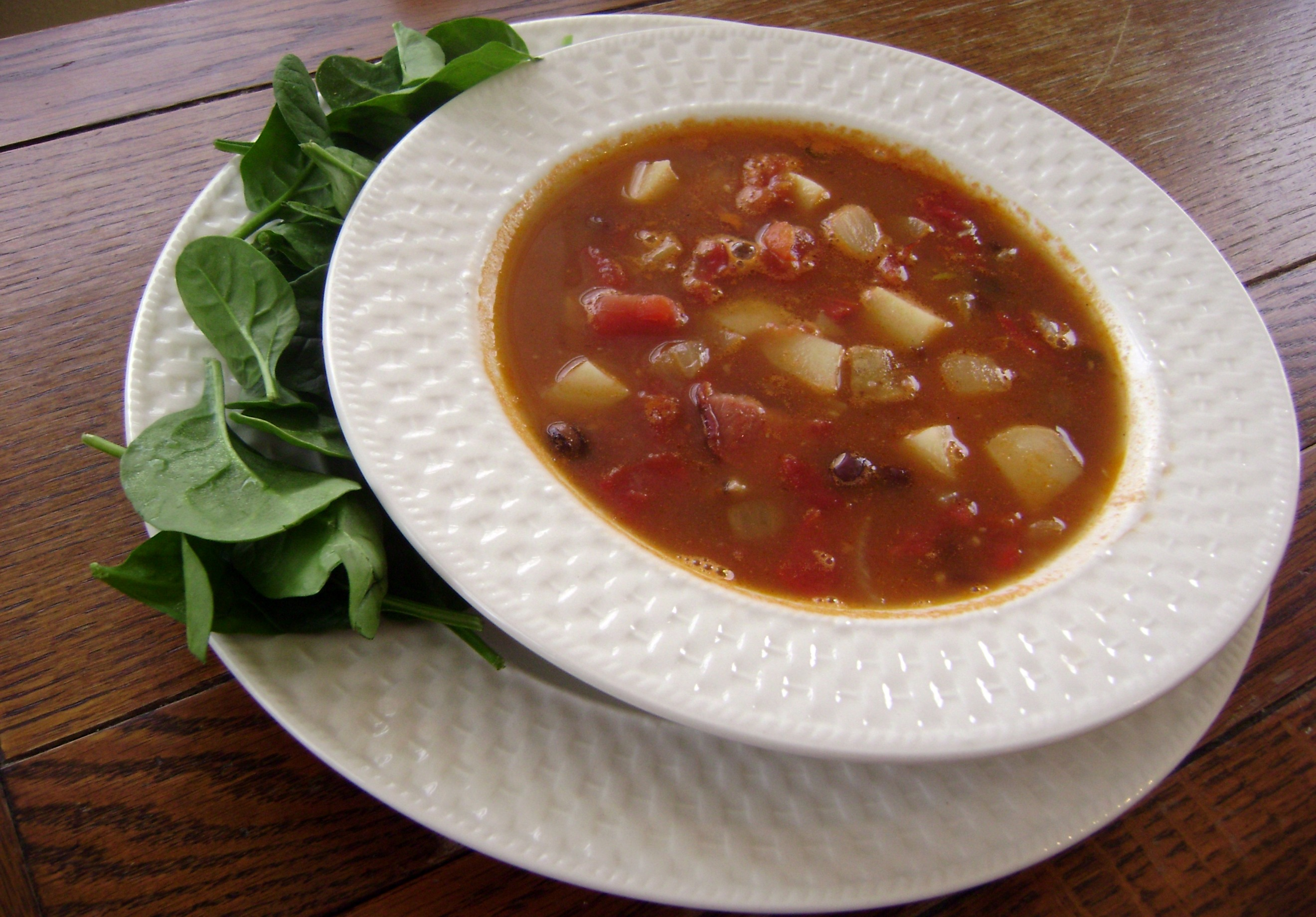 Spicy Black Bean Soup - The Greenbacks Gal