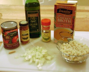 Tomato and Rice Soup Ingredients
