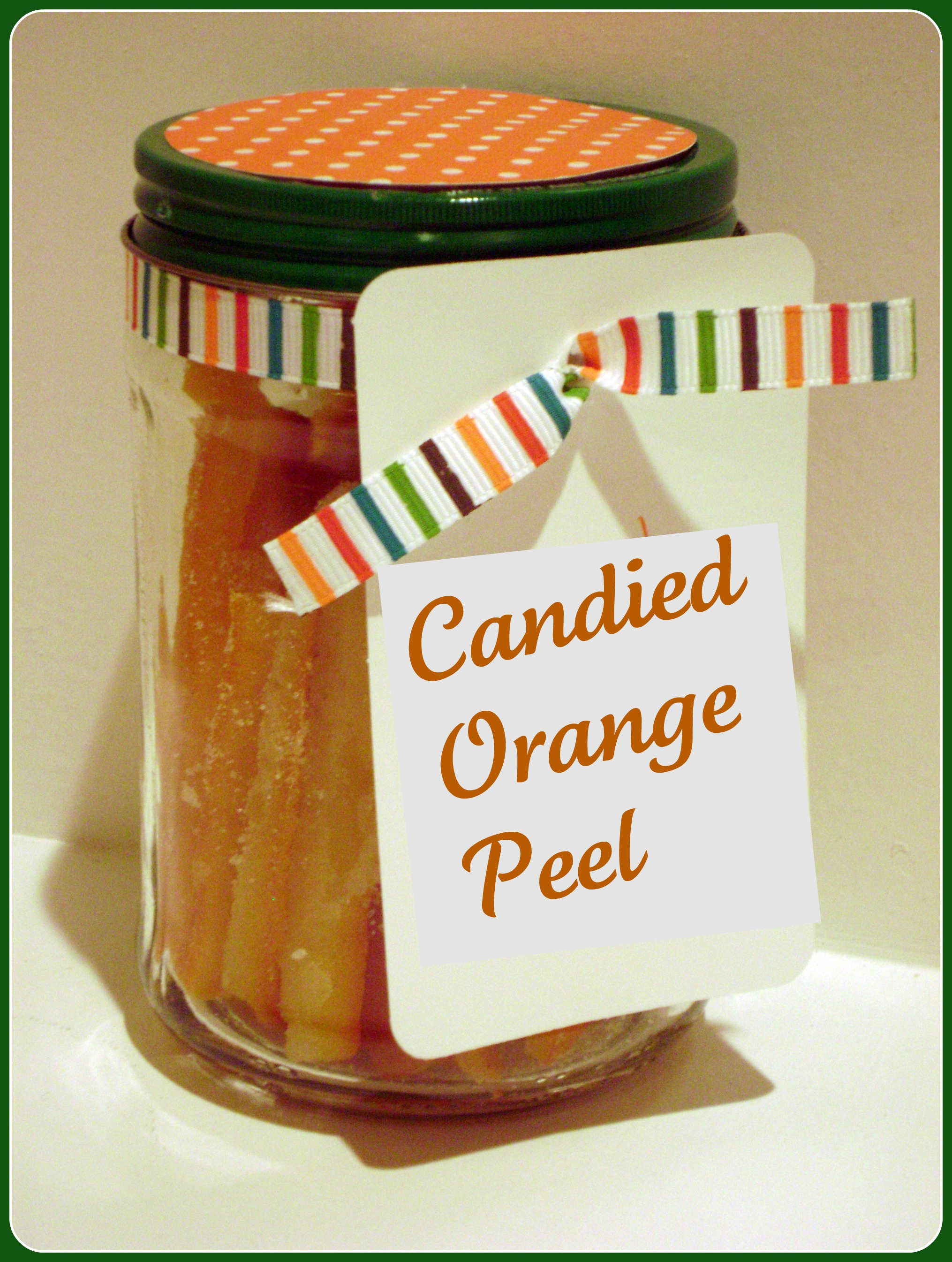... tasty treat! Have you had candied orange peel before? Are you a fan