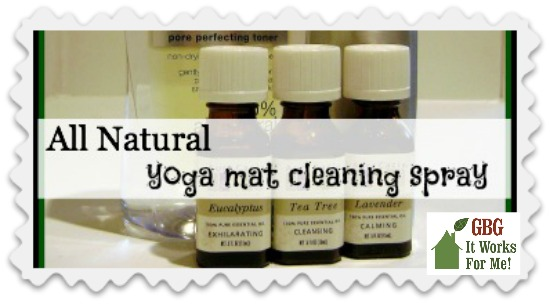 This magical DIY Yoga Mat Cleaning Spray will clean up sweaty mats and leave behind a delightful scent.