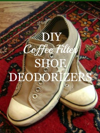 Spring Cleaning: DIY Coffee Filter Shoe Deodorizers