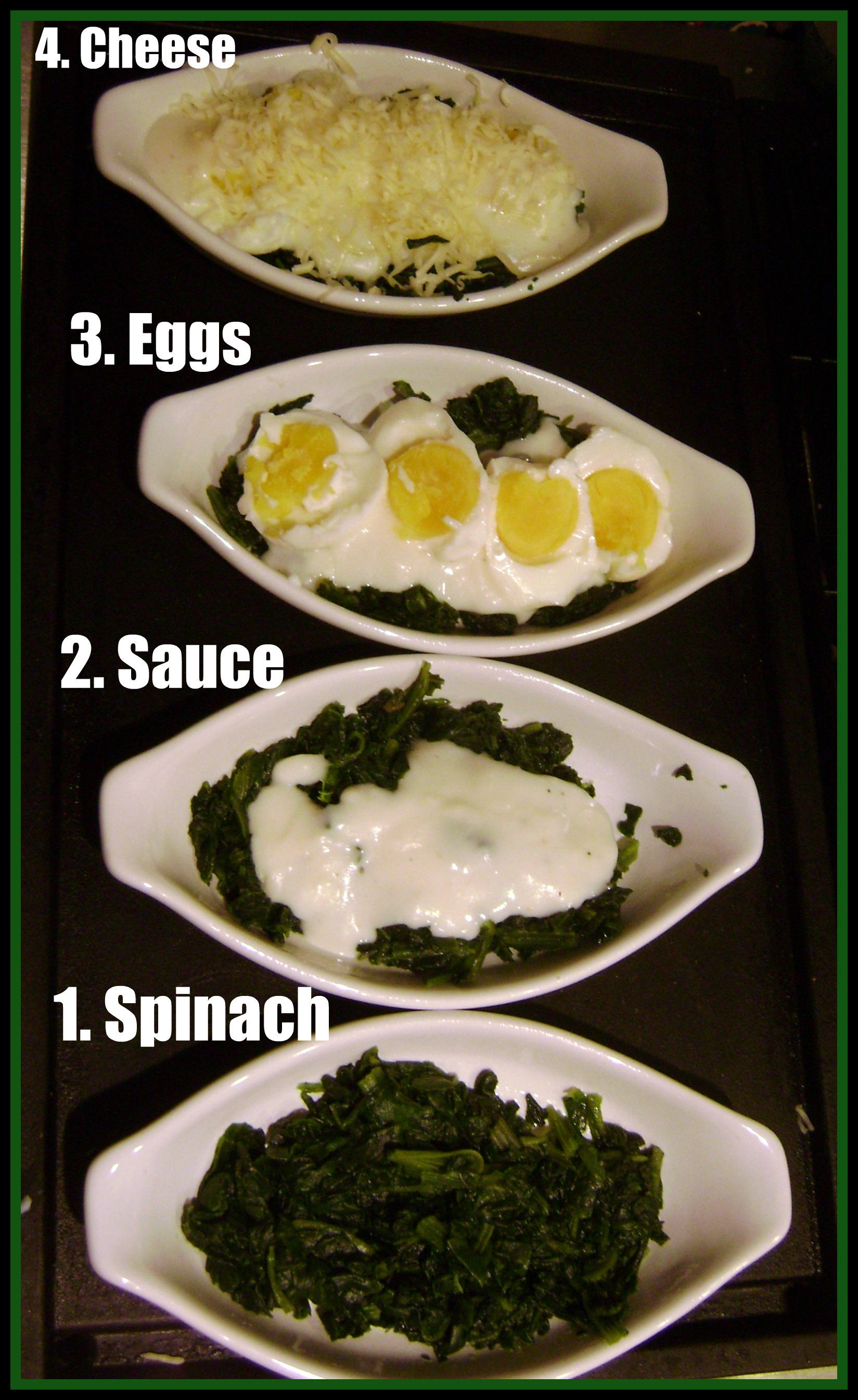 Spinach Gratin With Hard Boiled Eggs Recipe — Dishmaps