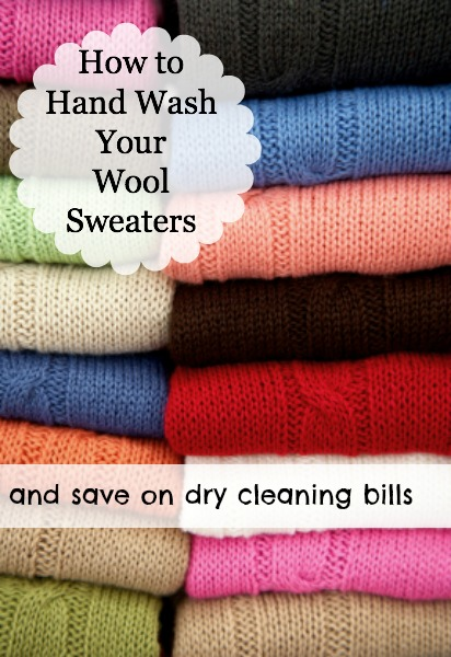 Yes! You can hand wash your wool sweaters and save a bundle over dry-cleaning!