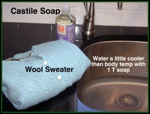 Wash a Wool Sweater