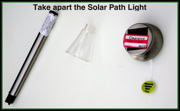 Disassembled Solar Path Light