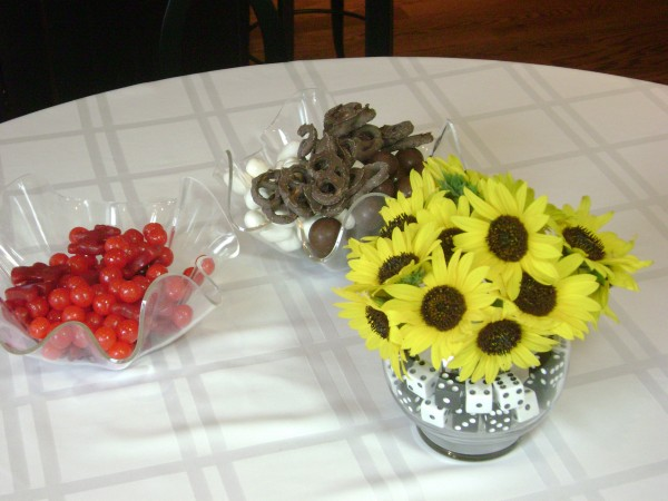 Bunco Decorations and Snacks