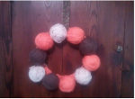 Inspiring Autumn Giveaway: Yarn Ball Wreath & $20 GC to Hobby Lobby