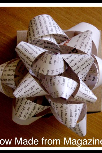 Gift Bow Made from Magazine Page