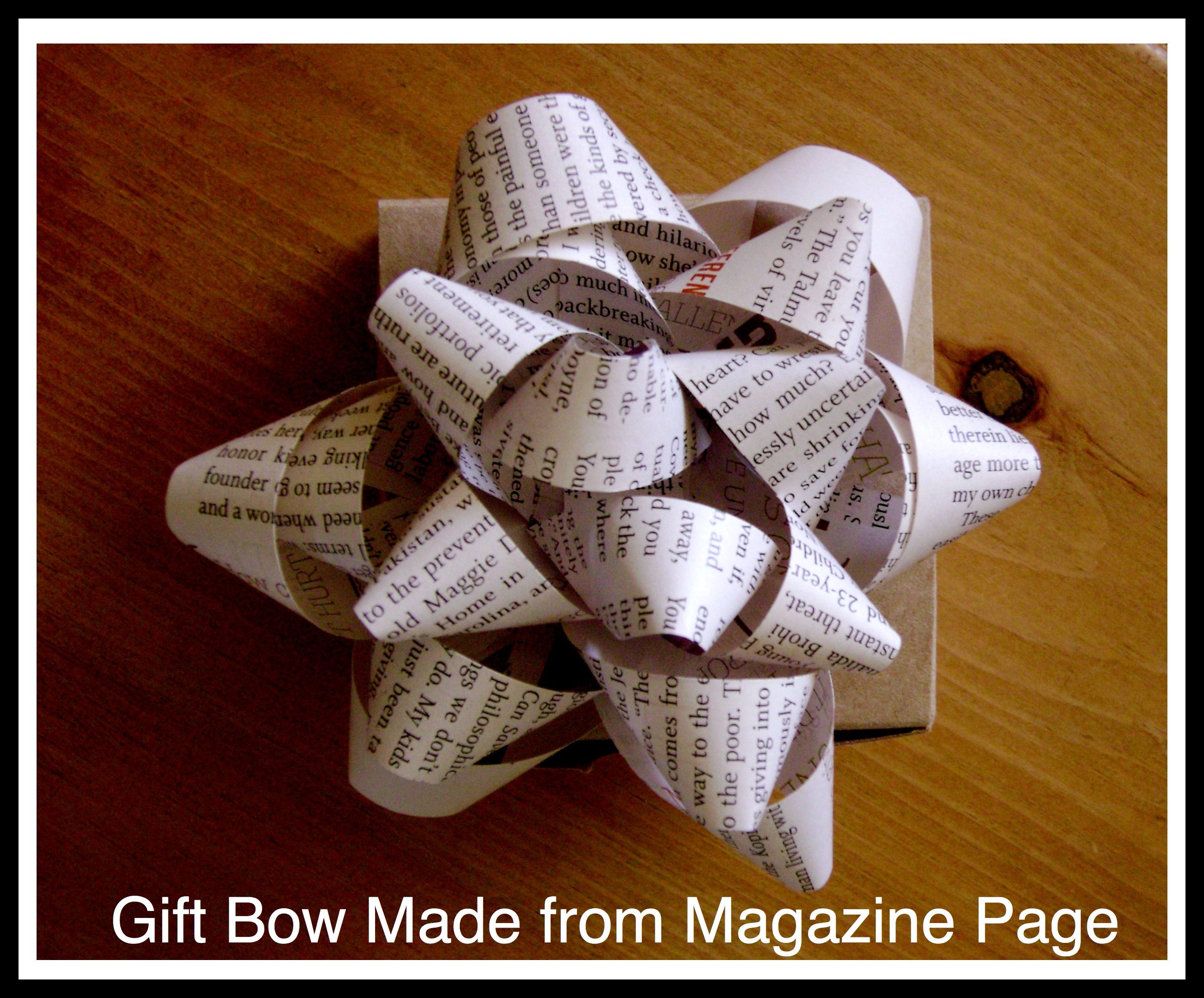 Do it yourself gift bow cha ching queen gift bow made from magazine page solutioingenieria Images