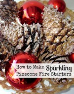 How to Make Sparkling Pinecone Fire Starters