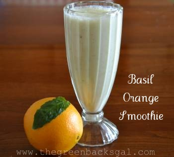 Basil Orange Smoothie