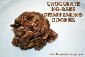 Chocolate No-Bake Disappearing Cookies