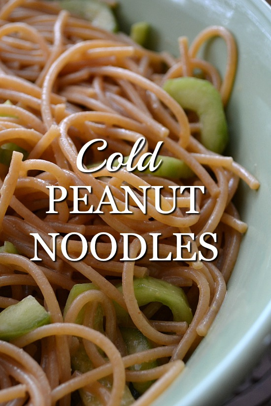 These simple cold peanut noodles are the perfect make ahead lunch. Prep at the beginning of the week, divided into lunch boxes, grab and go in the mornings.