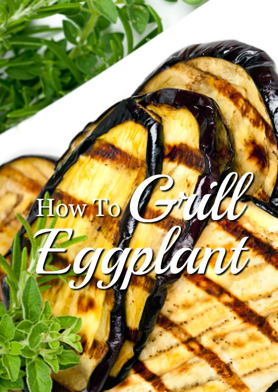 Grilling eggplant for a quick and healthy side dish.