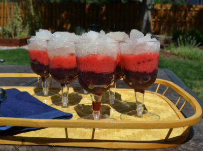 Red, White and Blue Fruit Coolers