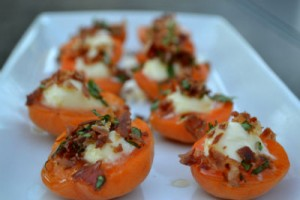 Apricots with Marscapone and Proscuitto