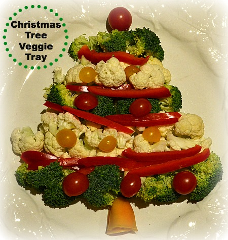 Christmas Tree Vegetable Tray