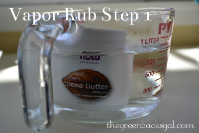 Making Homemade Vapor Rub