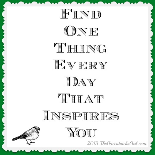 One Thing Inspires