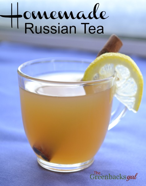 Homemade Russian Tea Recipe made without powdered mixes.