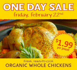 Whole Foods Market Organic Chicken Sale