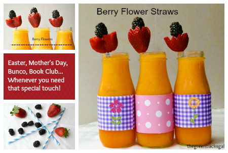 Berry Flower Straws
