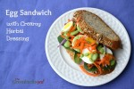 Hard Boiled Egg Sandwiches with Creamy Herbal Dressing