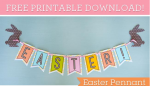 FREE Printable Easter Pennant
