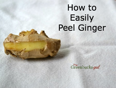 How to Easily Peel Ginger