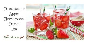 Strawberry Apple Homemade Sweet Tea