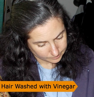 Hair Washed with Vinegar