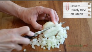 How to Evenly Dice an Onion