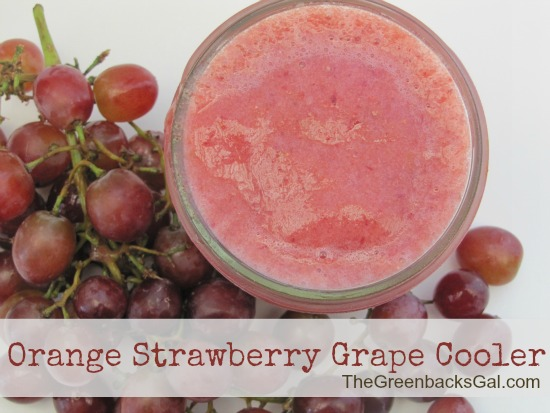 Orange strawberry grape cooler