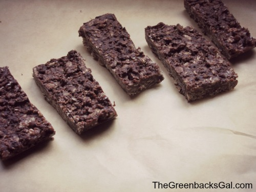 Chocolate Almond Granola Bar - Sliced