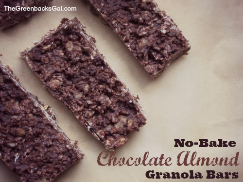No Bake Chocolate Almond Granola Bars