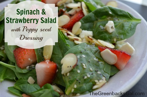 Spinach and strawberry salad - TheGreenbacksGal