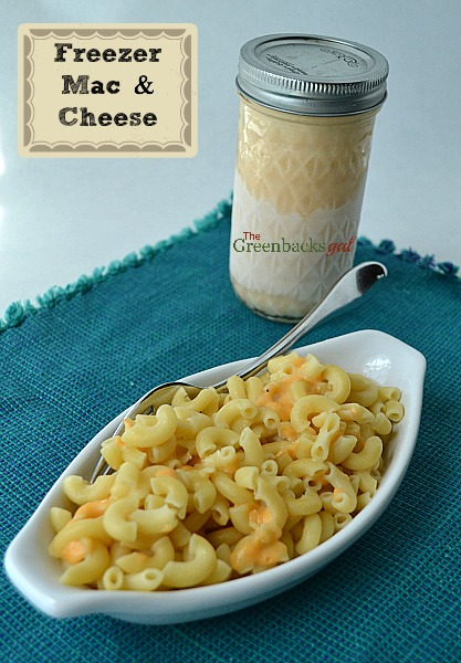 Freezer Meal Macaroni and Cheese