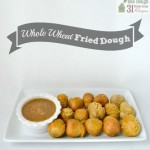 Whole Wheat Fried Dough with Apple Dipping Sauce