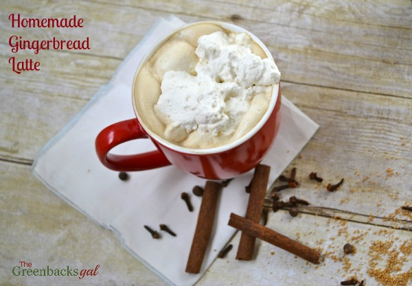 Gingerbread Latte with Homemade Gingerbread Latte Syrup