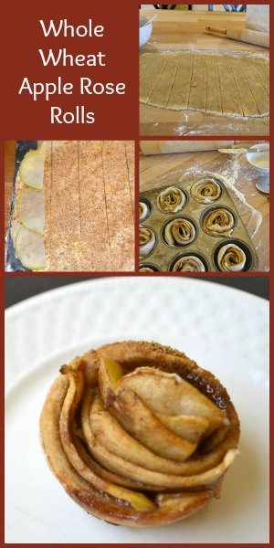 Whole Wheat Apple Rose Rolls