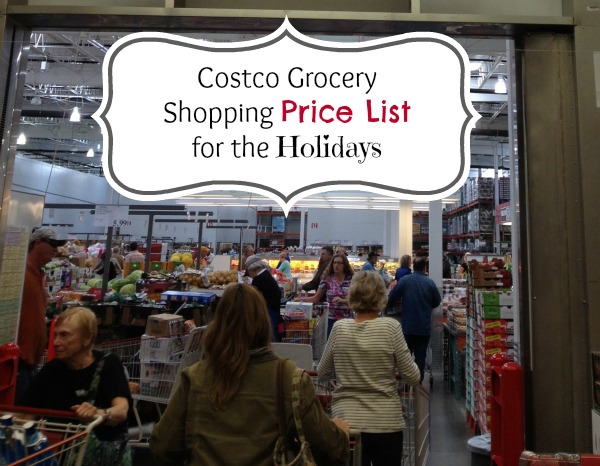 Costco Grocery Shopping Price List