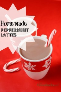 Homemade Peppermint Lattes