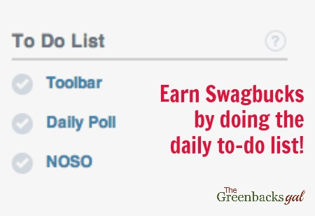 Daily Swagbucks Tasks - Part of The Natural Green Mom's FREE Amazon Gift Cards in a Minimum Amount of Time Strategy