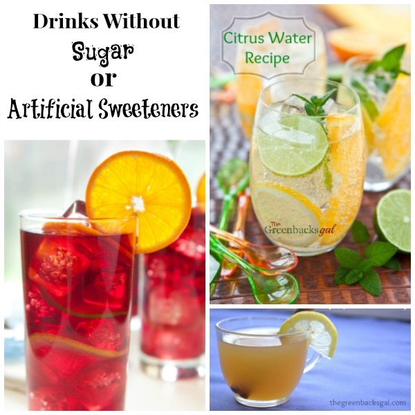 Drinks without sugar or artificial sweeteners