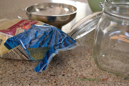 Open bag of Millet