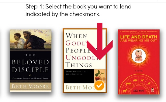 Select the Kindle Book to Loan