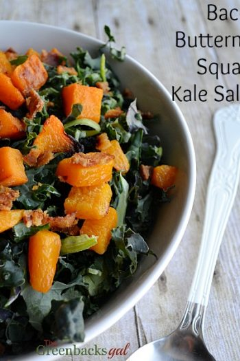 Bacon, Butternut Squash, Kale Salad Recipe